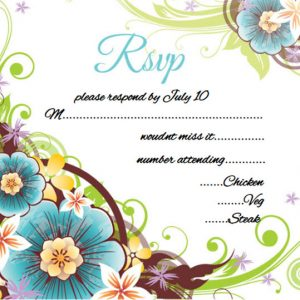 Wedding rsvp card wording floral ecard
