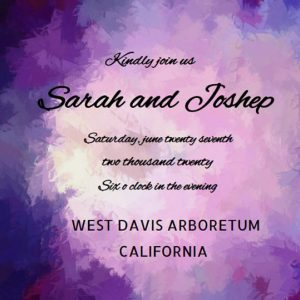 How to word wedding invitations purple ecard