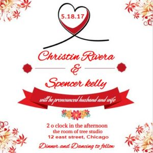 Casual wedding invitation wording red ecards