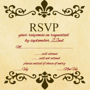 Wedding RSVP card wording yellow ecards