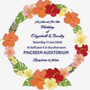 Casual wedding invitation wording floral ecard