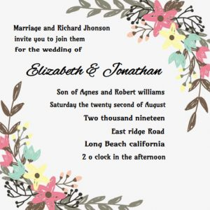 How to word wedding invitations floral ecards