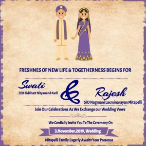 Indian Wedding Invitation ecard