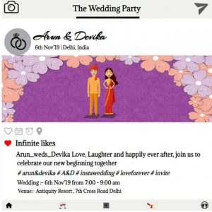 Instagram style wedding invitation eCards
