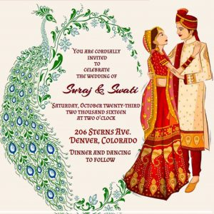 Indian Wedding Invitation Couple ecard